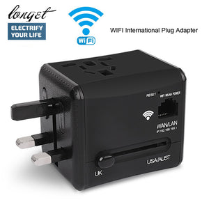 International Wifi Travel Power Adapter Plug Converter All in One Dual 2.4A USB