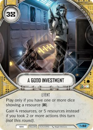 A Good Investment (Across The Galaxy, Common, 92) Card Single