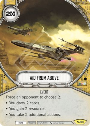 Aid From Above (Across The Galaxy, Uncommon, 93) Card Single
