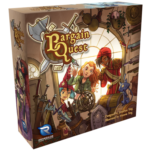 Bargain Quest bundle (incl. Black Market Expansion and Game Shop player boards)