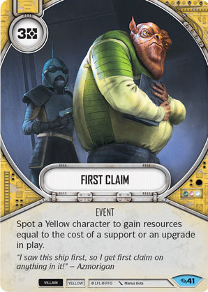 First Claim (Across The Galaxy, Common, 41) Card Single