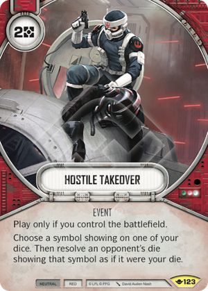 Hostile Takeover (Way Of The Force, Uncommon, 123) Card Single