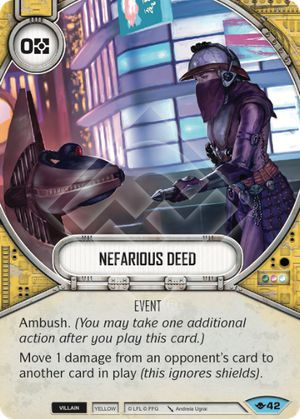 Nefarious Deed (Way Of The Force, Common, 42) Card Single