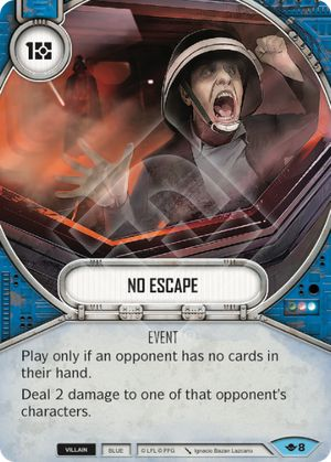 No Escape (Way Of The Force, Common, 8) Card Single