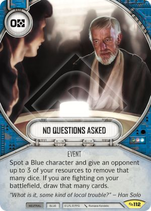 No Questions Asked (Across The Galaxy, Uncommon, 112) Card Single