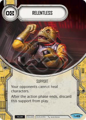 Relentless (Across The Galaxy, Common, 49) Card Single
