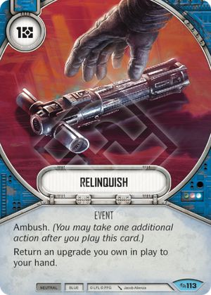 Relinquish (Across The Galaxy, Common, 113) Card Single