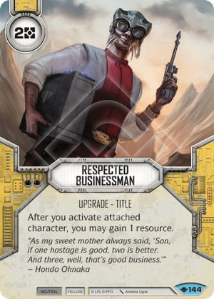 Respected Businessman (Way Of The Force, Common, 144) Card Single