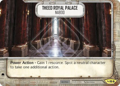 Theed Royal Palace - Naboo (Across The Galaxy, Uncommon, 159) Card Single