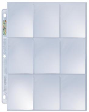 10x Ultra-Pro PLATINUM Card Pocket Pages - 9 pockets per page