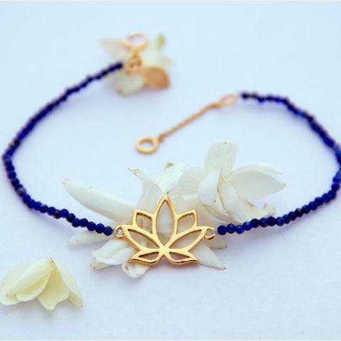 Bracelet Eternal Lotus lapis