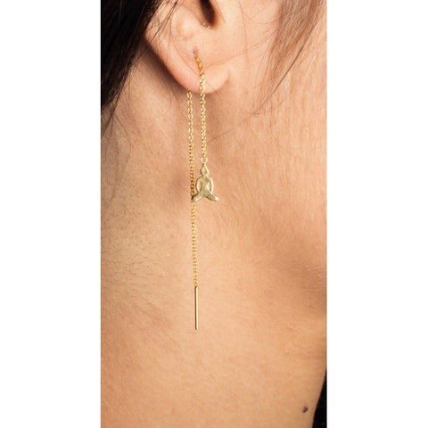 Earrings Parallel buddha gold plated