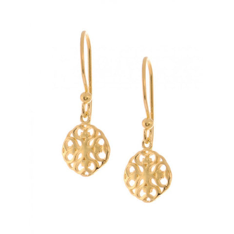 Earrings Simplicity Mandala gold plated