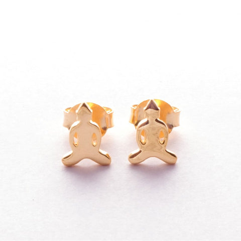 Pins Earrings Simplicity Buddha gold plated