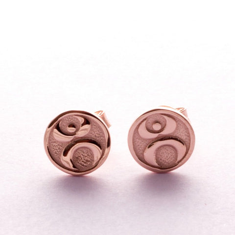 Pins Earrings Simplicity Gaia pink gold plated