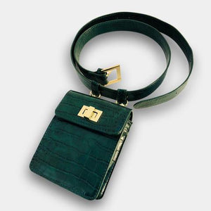 THE SOFIA BELT BAG - GREEN CROC