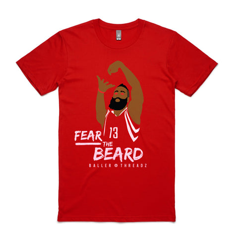 Fear The Beard T-Shirt Red