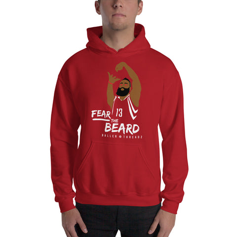 FEAR THE BEARD Hoodie - Red
