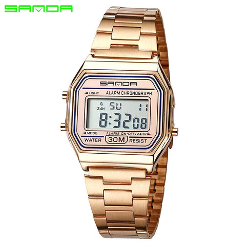 'Retro' - SANDA Men's Digital Watch (Multiple Colours)