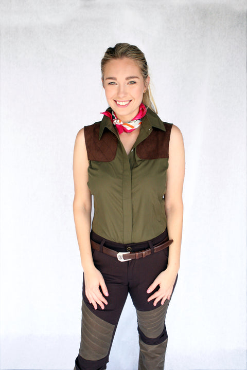McKenna Quinn Sleeveless Shooting Shirt