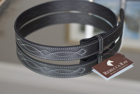 Hound & Hare Black Leather Belt
