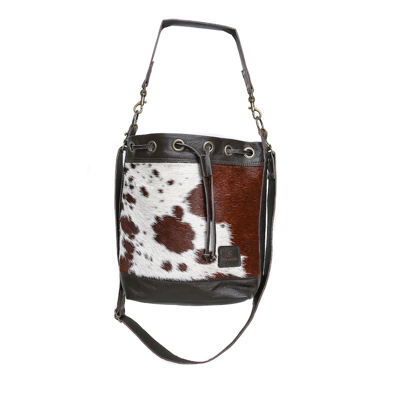 Cowhide Bucket Bag by Zulucow