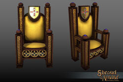 Golden Lord British Throne