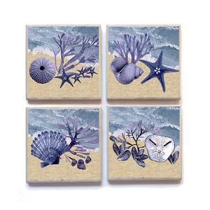 Coasters Shells and sand Seaside