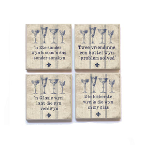 Coasters Afrikaans WINE French Inspired