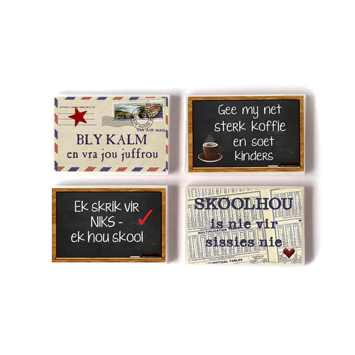 Fridge Magnets Afrikaans TEACHER QUOTES