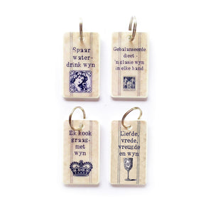 Keyrings Afrikaans WINE French Inspired