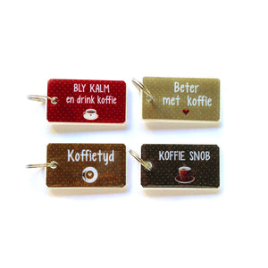 Keyrings Afrikaans COFFEE
