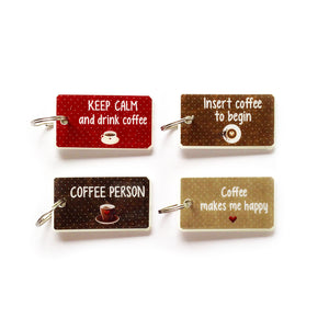 Keyrings English COFFEE