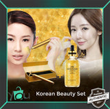 KOREAN BEAUTY SET: AUTHENTIC KOREAN 24K SERUM + KOREAN BEAUTY GOLD FACIAL ROLLER/BAR