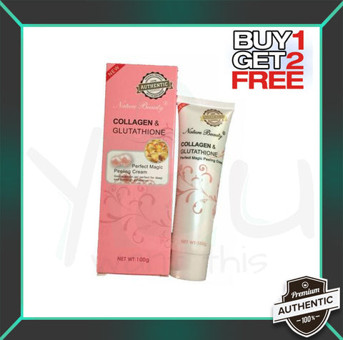 (Buy One Get Two) Nature Beauty Collagen And Glutathione Magic Peeling Cream