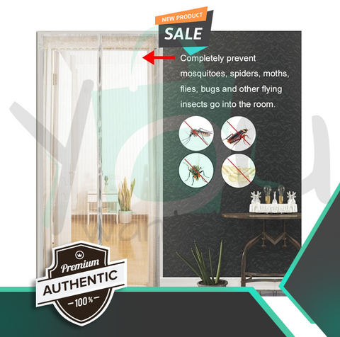 Magic Mesh, AUTO Magnetic Screen Door Cover KEEP FLIES AWAY