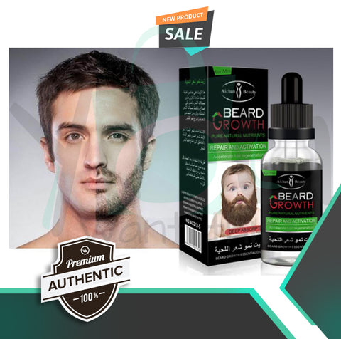 Award-Winning Professional Men BEARD GROWTH AMPLIFIER & Facial Hair ENHANCER ★ Exclusively for MEN