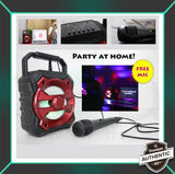 PORTABLE KARAOKE WITH FREE MICROPHONE