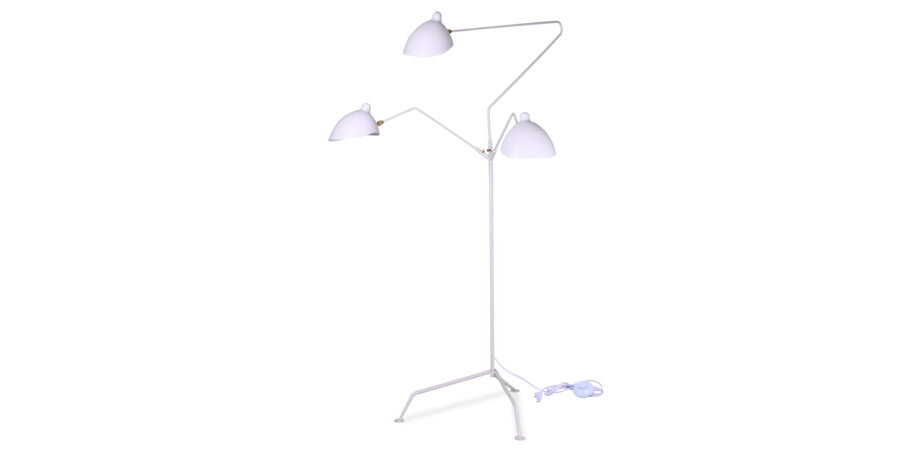 Mfl 3 style contemporary floor lamp