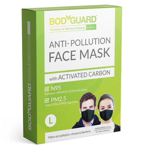 BodyGuard N95 + PM2.5 Reusable Pollution Mask - Large - Pee Buddy
