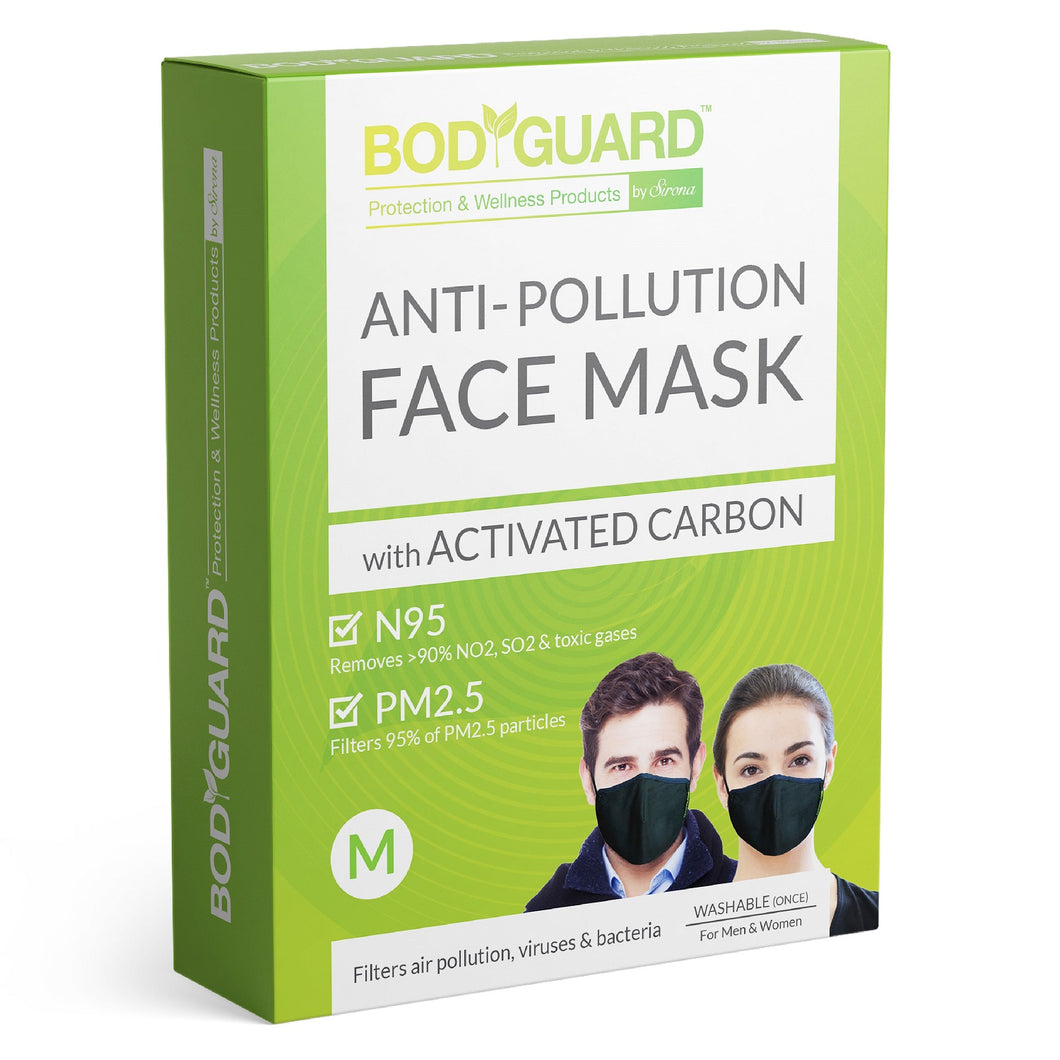 BodyGuard N95 + PM2.5 Reusable Pollution Mask - Medium - Pee Buddy