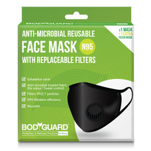 Load image into Gallery viewer, BodyGuard PM2.7 + N95 Antimicrobial Reusable Anti Pollution Mask with Replaceable Filter - 1 Unit - Pee Buddy