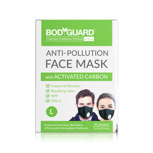 BodyGuard Reusable Anti Pollution Mask, N99 + PM2.5 - Large - Pee Buddy