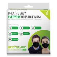 Load image into Gallery viewer, BodyGuard Breathe Easy Everyday Reusable Anti Pollution Mask - 1 Unit - Pee Buddy