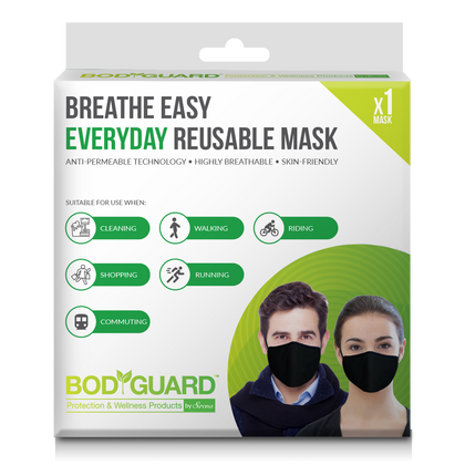 BodyGuard Breathe Easy Everyday Reusable Anti Pollution Mask - 1 Unit - Pee Buddy