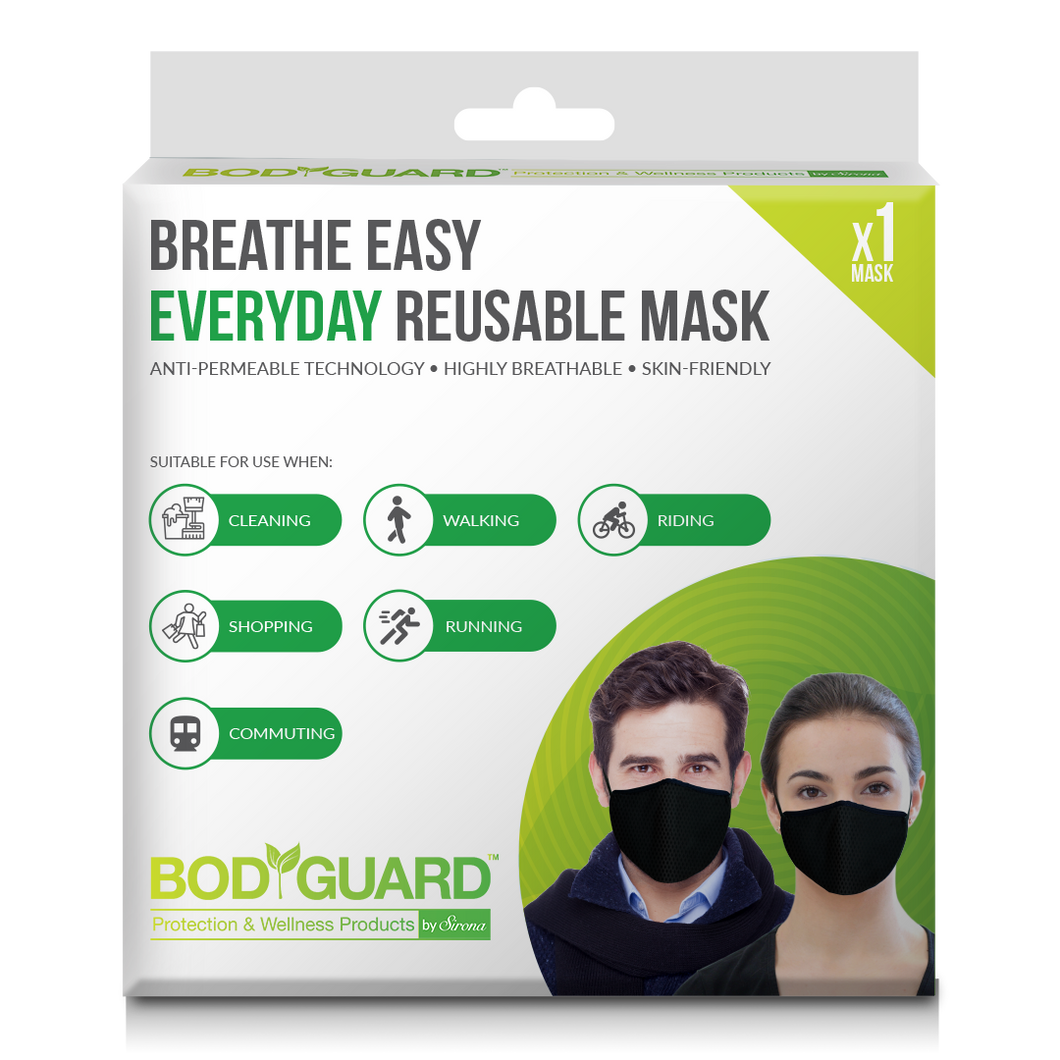 BodyGuard Breathe Easy Everyday Reusable Anti Pollution Mask - Pee Buddy