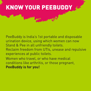 PeeBuddy Female Urination Device - 10 Funnels - Pee Buddy