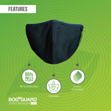 Load image into Gallery viewer, BodyGuard N95 + PM2.5 Reusable Pollution Mask - Medium - Pee Buddy