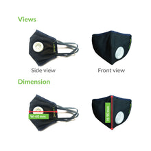 Load image into Gallery viewer, BodyGuard Reusable Anti Pollution Mask, N99 + PM2.5 - Small - Pee Buddy