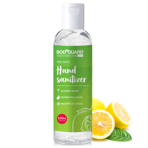 BodyGuard Alcohol Based Hand Sanitizer with Refreshing Lemon - 100 ml - Pee Buddy